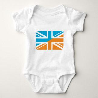 Drapeau orange et bleu d'Union Jack les Anglais T-shirt