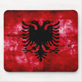 Drapeau patiné de l'Albanie Tapis De Souris