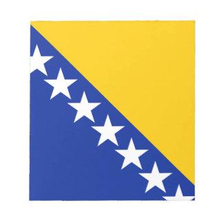 Drapeau patriotique de la Bosnie-Herzégovine Bloc-note
