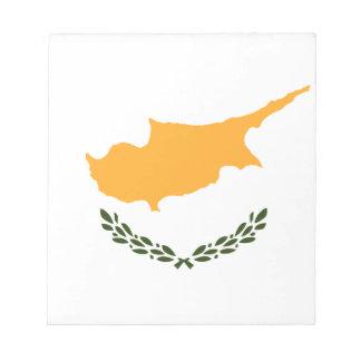 Drapeau patriotique de la Chypre Bloc-note