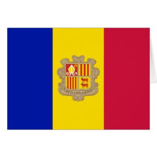 Drapeau patriotique de l'Andorre Carte De Vœux