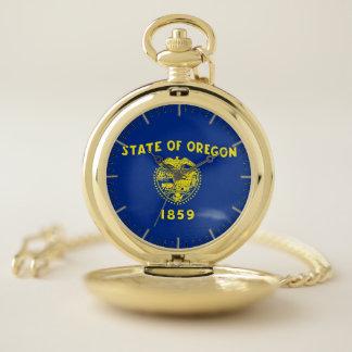 Drapeau patriotique de montre de poche de l'état