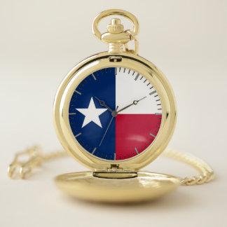 Drapeau patriotique de montre de poche du Texas,