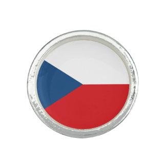 Drapeau patriotique de République Tchèque Bagues