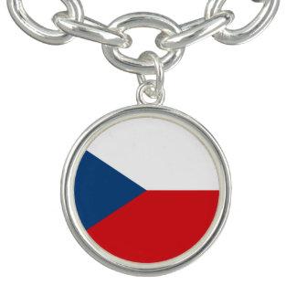 Drapeau patriotique de République Tchèque Bracelet Avec Breloques