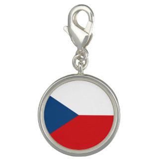 Drapeau patriotique de République Tchèque Breloque Avec Photo