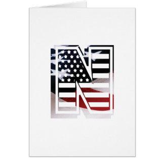 Drapeau patriotique des Etats-Unis d'initiale de Cartes