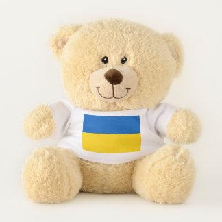 Drapeau patriotique d'ours de nounours de