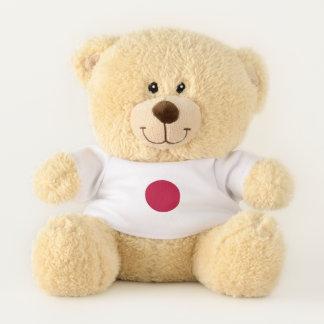 Drapeau patriotique d'ours de nounours du Japon