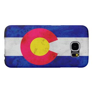 Drapeau patriotique grunge d'état du Colorado
