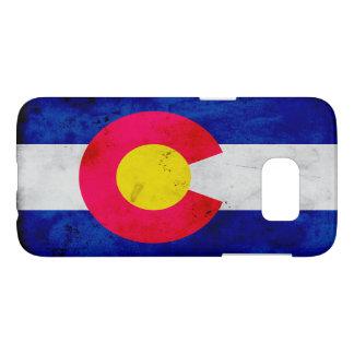 Drapeau patriotique grunge d'état du Colorado Coque Samsung Galaxy S7