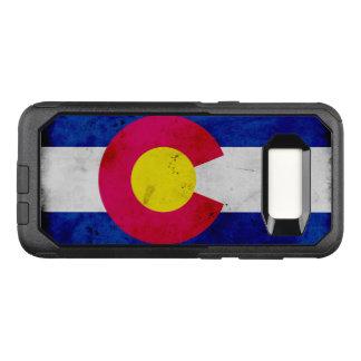 Drapeau patriotique grunge d'état du Colorado Coque Samsung Galaxy S8 Par OtterBox Commuter