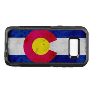 Drapeau patriotique grunge d'état du Colorado Coque Samsung Galaxy S8+ Par OtterBox Commuter