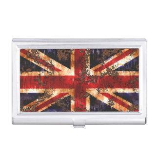 Drapeau patriotique rouillé du Royaume-Uni Boîtiers Pour Cartes De Visite