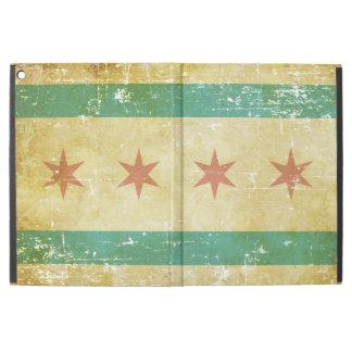 """Drapeau patriotique usé de Chicago iPad Pro 12.9"""" Case"""