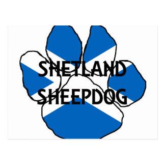 drapeau paw png de l Ecosse de nom de chien de Carte Postale