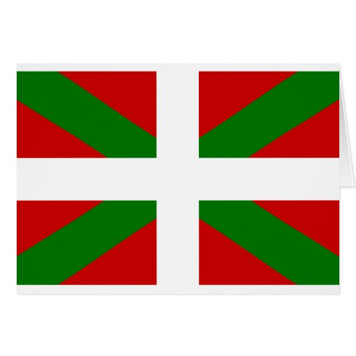 Drapeau pays Basque euskadi Cartes De Vœux