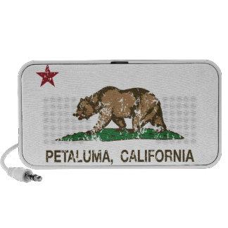 Drapeau Petaluma d état de la Californie Haut-parleur Portable