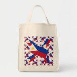 Drapeau philippin dans des couches colorées multip sac en toile