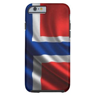 Drapeau plein HD de la Norvège Coque iPhone 6 Tough