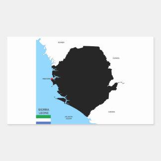 drapeau politique de carte de pays de la Sierra Autocollants Rectangulaires