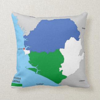 drapeau politique de carte de pays de la Sierra Oreiller