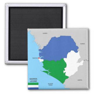 drapeau politique de carte de pays de la Sierra Magnets Pour Réfrigérateur