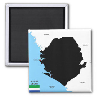drapeau politique de carte de pays de la Sierra Aimant Pour Réfrigérateur