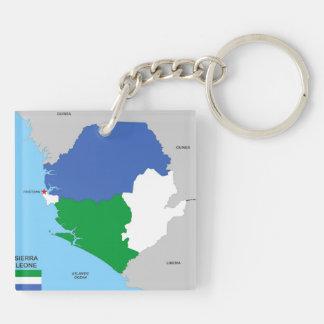 drapeau politique de carte de pays de la Sierra Porte-clef