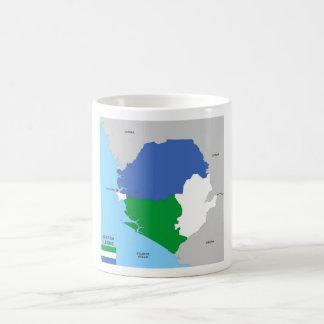 drapeau politique de carte de pays de la Sierra Tasse À Café