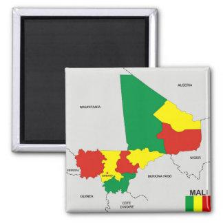 drapeau politique de carte de pays du Mali Aimant