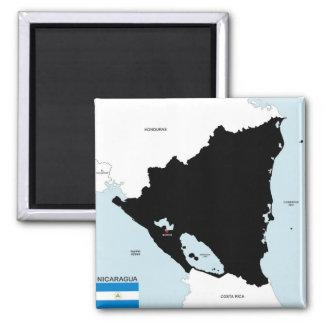 drapeau politique de carte de pays du Nicaragua Aimant