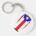 Drapeau Porto Rico de Conga Porte-clés