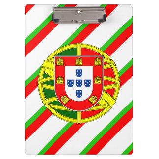 Drapeau portugais de rayures porte-bloc