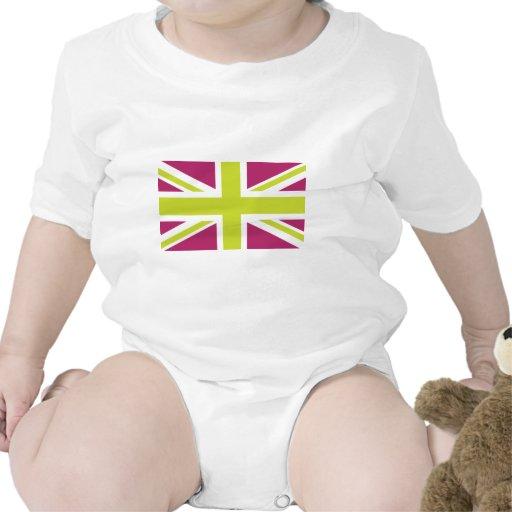 Drapeau pourpre de Sharpe Union Jack les Anglais ( T-shirts