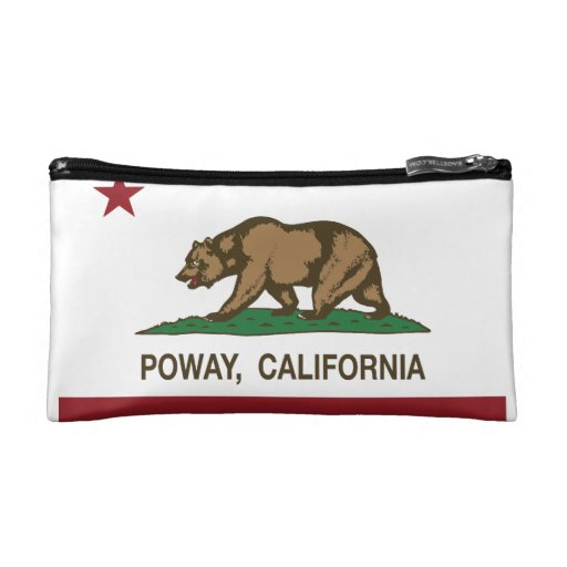 Drapeau Poway de stat de la Californie Trousses De Maquillage