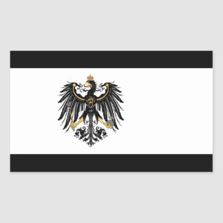 Drapeau prussien sticker rectangulaire
