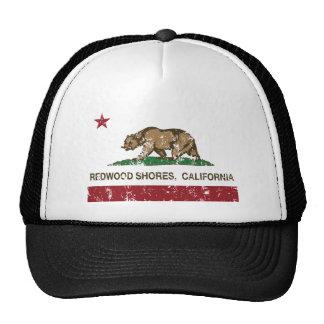 drapeau Redwood Shores d état de la Californie Casquette De Camionneur