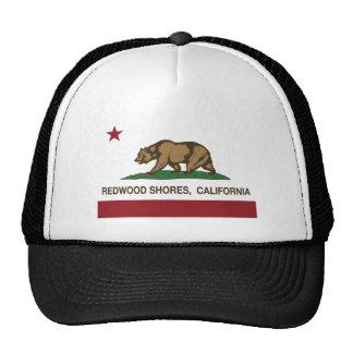 drapeau Redwood Shores d'état de la Californie Casquettes De Camionneur