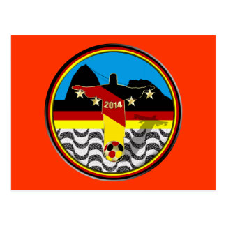 Drapeau Rio Deutschland Fussball Weltmeister de Cartes Postales