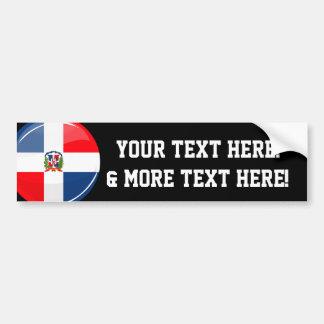 Drapeau rond brillant de la République Dominicaine Autocollant Pour Voiture
