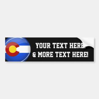 Drapeau rond brillant du Colorado Autocollant De Voiture