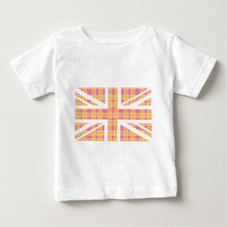 Drapeau rose d'Union Jack les Anglais (R-U) de T-shirt