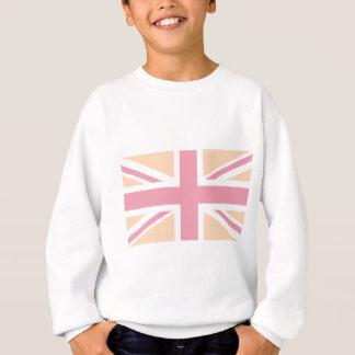 drapeau rose mou d'Union Jack les Anglais (R-U) Sweatshirt