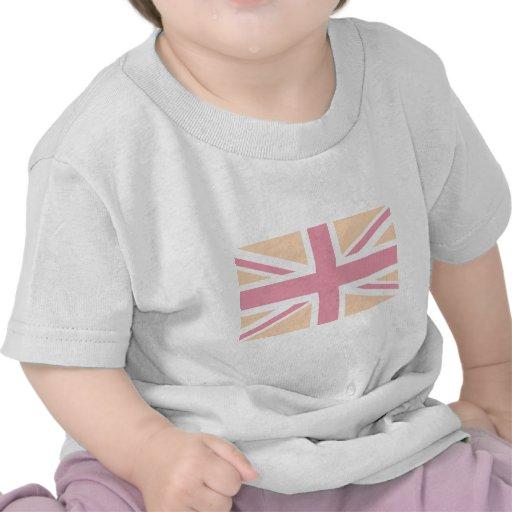 drapeau rose mou d'Union Jack les Anglais (R-U) T-shirt