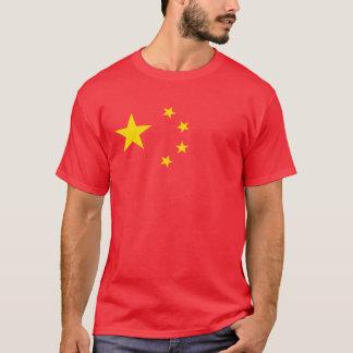 Drapeau rouge cinq étoiles chinois t-shirt