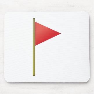 Drapeau rouge - Emoji Tapis De Souris