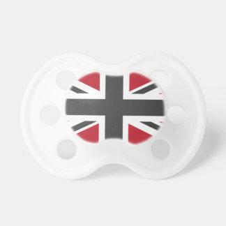 Drapeau rouge gris frais d'Union Jack les Anglais  Tétines Pour Bébé