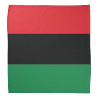 Drapeau rouge, noir et vert bandanas
