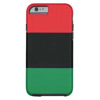 Drapeau rouge, noir et vert coque tough iPhone 6